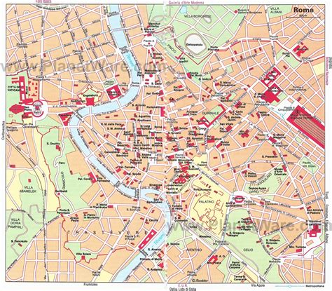 rome map tourist attractions 14 top tourist attractions in rome planetware
