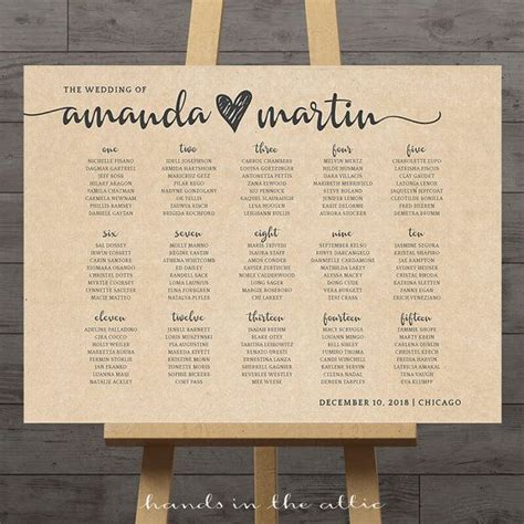 wedding font for seating chart large wedding seating chart printable guest table