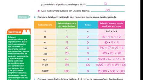 respuestas de libro de matemticas de 6 2016 respuestas del libro matematicas pag