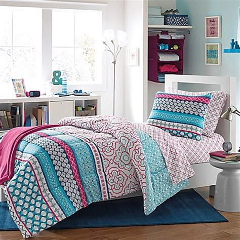 Buy Kenzie Reversible Dorm Twin Twin Xl Comforter Set From Xl Bedding For Dorms