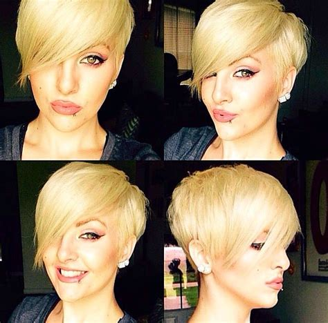 pixie haircut with side swept bangs 360 degrees best 10 pixie cut long bangs ideas on pinterest pixie
