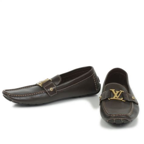 louis loafers louis vuitton leather monte carlo loafers 9 cacao brown 21761