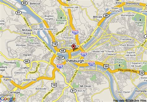 pittsburgh pa map map of springhill suites by marriott pittsburgh