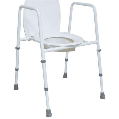 commode toilet seat chair frame height adjustable toilet frame with seat vat exempt