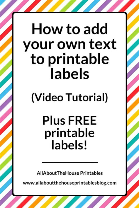 How To Organize Kitchen by How To Add Your Own Text To Printable Labels Plus Free