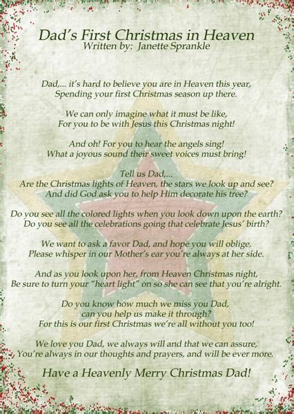 wrote  couple  poems  year  christmas time       dad