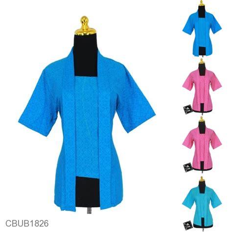 Blus Batik Kutu Baru Embos Kode Ba6639 blus batik kutu baru pekalongan motif abstrak daun asem