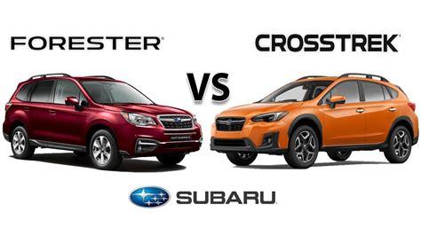 subaru outback vs crosstrek 2018 subaru crosstrek vs 2018 forester walk around
