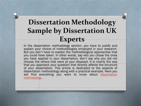 dissertation experts ppt get dissertation methodology help with sle