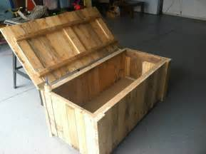 Handmade Wooden Toy Boxes For Sale by Storage Deck Box From Pallet Wood My Completed Diy Projects Pinterest Deck Box Pallet