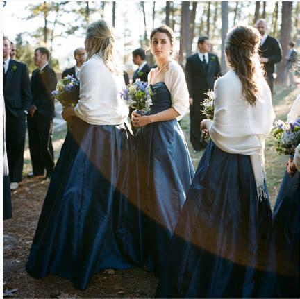 Dress With Pasmina 2 navy blue bridesmaids dress with white pashmina shawl