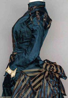 Bj 1880 Blue Sleeveless Dress bustle dresses 1880 augusta auctions blue gowns 1837 1901