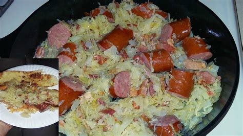 how to cook with cast iron youtube cast iron cooking kielbasa and sauerkraut recipe youtube