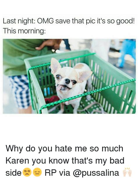 Why Do You Hate Me Meme - last night omg save that pic it s so good this morning
