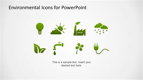 ppt 6 ways to go green at home and save money environmental icons for powerpoint slidemodel