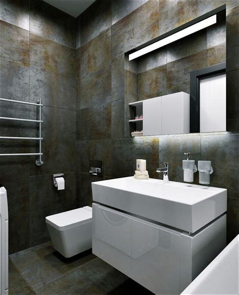rust colored bathroom 3 small apartments that rock uncommon color schemes with
