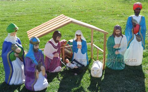 light up nativity scene outdoor image gallery large outdoor nativity sets