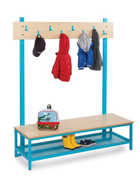 boot bench with coat rack bubblegum cloakroom bench with boot rack and coat hooks uk made