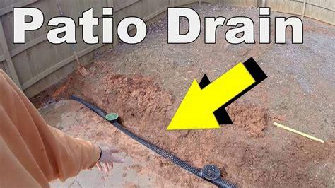 install  patio drain youtube