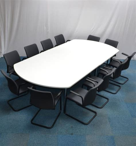 White Boardroom Table White 3000x1500 Boardroom Table