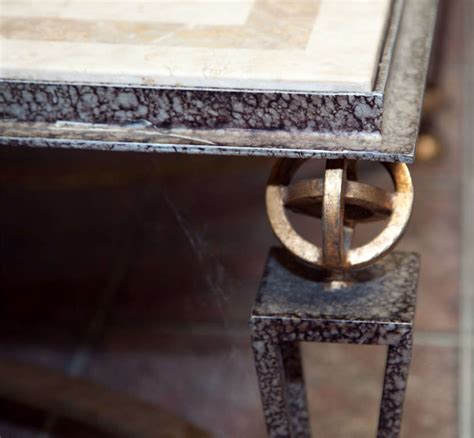 Metal And Marble Coffee Table Metal And Marble Square Coffee Table For Sale At 1stdibs
