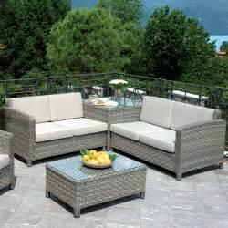 divani da giardino offerte set divanetti professionali tropea 2 divani angolare