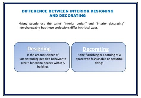 does anyone know the difference between an interior designer and a decorator