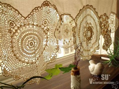 BOHO Vintage Crochet Doilies Shabby French Chic Window
