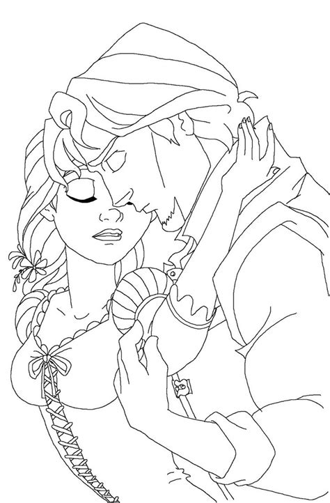 flynn coloring pages rapunzel and flynn coloring pages