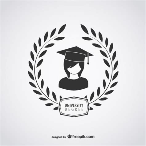 college seal template degree logo vector free