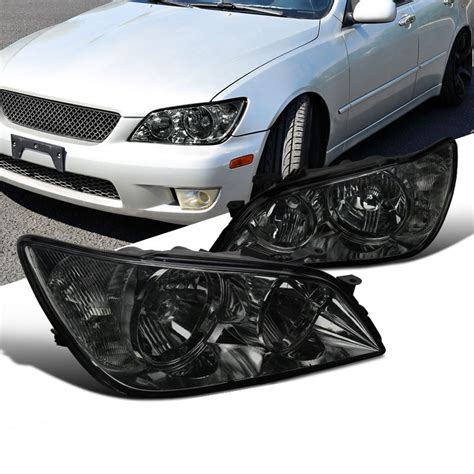 lexus is300 headlight assembly 01 05 lexus is300 replacement headlights smoked