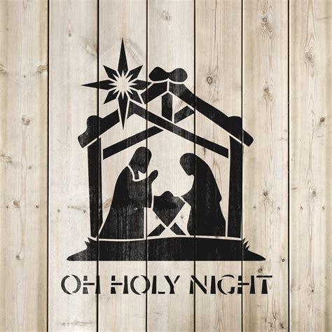 family nativity stencil stencil revolution