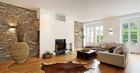 wohnzimmer steinwand innen steinwand 22 elegante ideen zur gestaltung deko