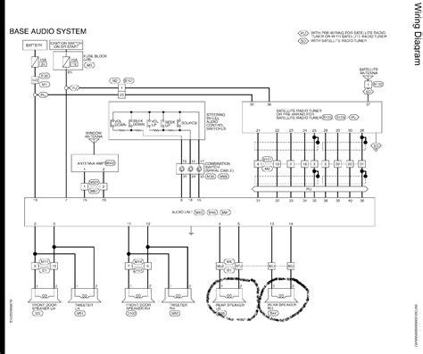 07 nissan murano radio wiring diagram wiring diagram and