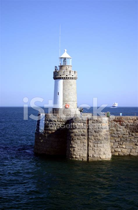 light house at lighthouse at guernsey stock photos freeimages com
