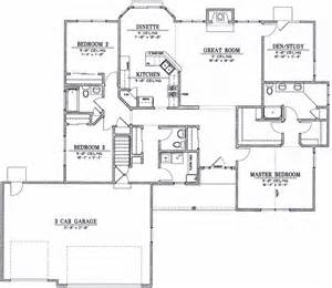 Ranch Floor Plans by Ranch 9848 Els Designs Residential Home Design