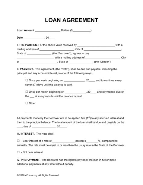 Employee Loan Agreement Form Loan Document Employee Personal Loan Agreement Format Employee Employee Loan Template
