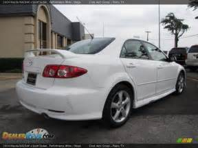 2004 mazda mazda6 s sport sedan performance white beige