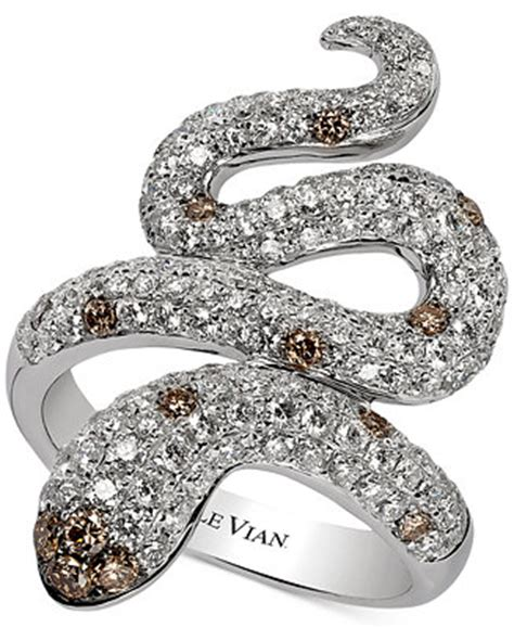 Snakes On A Ring Snakes On A Necklace Snakes By Sydney Evan by Le Vian Carpet 174 Chocolatier Snake Ring 1 7 8