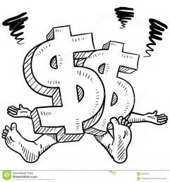 money stress vector sketch stock images image 23920514