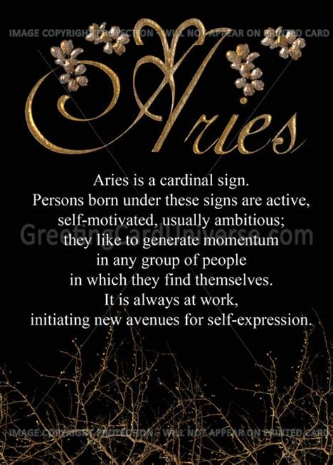 aries in aries cardinal sign march