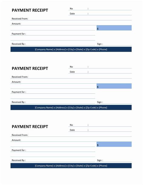 Pay Receipt Template Receipt Freewordtemplates Net