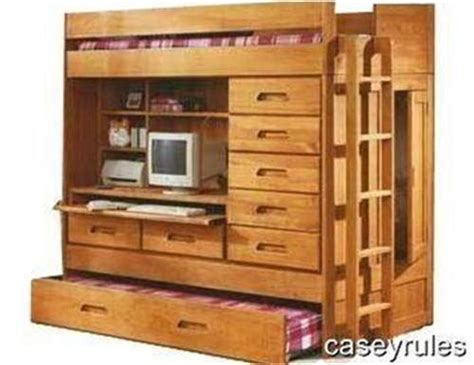 all in one bunk bed with desk bunk bed trundle desk woodworking loft plans all in one