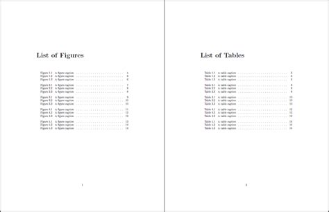 List Of Tables In Word by Table Of Contents How To Tweak The Lof And Lot Without