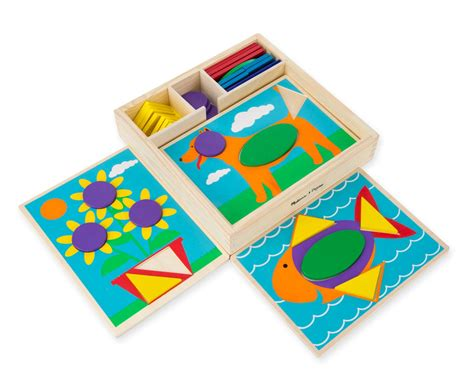 shape pattern toys amazon com melissa doug beginner wooden pattern blocks