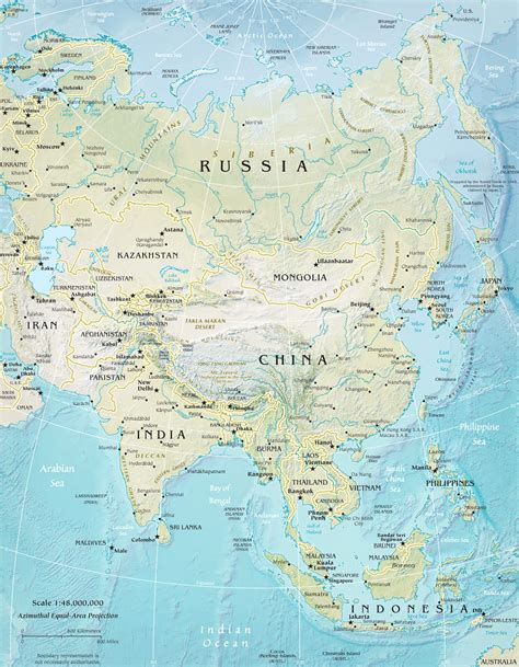 south central asia physical map physical map asia