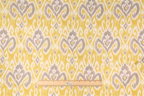 yellow drapery fabric 4 1 yards bartson libson printed cotton drapery fabric in
