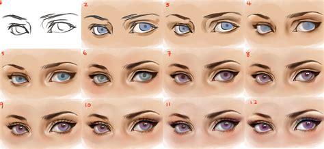 eyeshadow tutorial art eyes step by step by sakimichan on deviantart