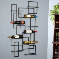 oenophilia mid century 10 bottle wall wine rack wine