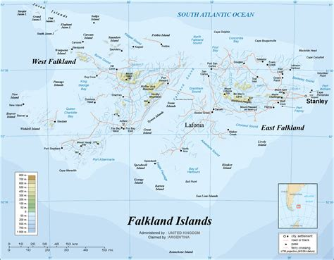 map of islands falklands war map images